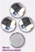 Strass HOTFIX chessboard circle 2035 10 mm crystal M HF x1