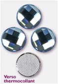Strass HOTFIX chessboard circle 2035 14 mm aquamarine M HF x1