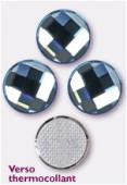 Strass HOTFIX chessboard circle 2035 10 mm aquamarine M HF x1