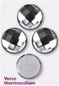 Strass HOTFIX chessboard circle 2035 10 mm black diamond M HF x1