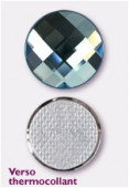 Strass HOTFIX chessboard circle 2035 20 mm aquamarine M HF x1