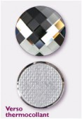 Strass HOTFIX chessboard circle 2035 20 mm black diamond M HF x1