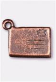 Breloque en métal enveloppe 11x7 mm cuivre x2