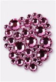 Strass HOTFIX 2028 3 mm / 5 mm / 7 mm rose M HF x42