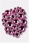 Strass 2028 3 mm / 5 mm / 7 mm rose F x42