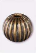 Perle en laiton ronde 6 mm bronze x6