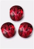 Facette 6 mm genuine stone red x24