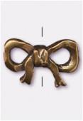 Perle en métal noeud 15x11 mm bronze x2