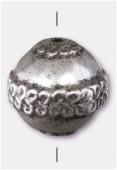 Ronde en résine 18 mm argent vieilli x1