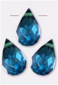 Goutte à facettes 6x9 mm montana blue x6