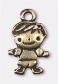 Breloque en métal bambino 13x10 mm bronze x2
