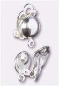 Clip demi perle 8 mm argent x2