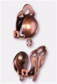 Clip demi perle 8 mm cuivre x2
