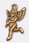 Breloque en métal ange 12x23mm bronze x2