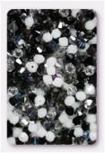 Toupie 5328 4 mm mélange obsidienne x50