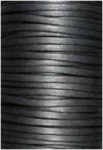 Coton enduit 4 mm noir x1m