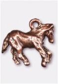 Breloque en métal cheval 18x16 mm cuivre x1
