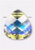 Goutte plate 6012 11x10 mm crystal AB x1