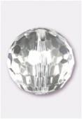 Ronde à facettes en acrylique 25 mm crystal x2