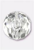 Ronde à facettes en acrylique 30 mm crystal x2