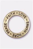 Breloque en métal anneau Hope 22 mm bronze x1