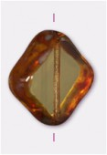 Palet diamond cut 18 mm topaz x1