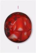 Palet round cut 12 mm carnelian x1
