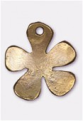 Breloque en métal fleur pop 20x17 mm bronze x2