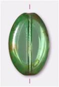 Palet flat ovale cut 20x14 mm olivine x1