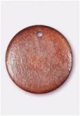 Perle en bois palet rond marron 23 mm x1
