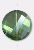 Palet twist Celebrity Crystal 18 mm peridot x1