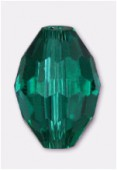 Olive Celebrity Crystal 13x10 mm teal x2