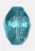 Olive Celebrity Crystal 13x10 mm aqua x2