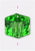 Cube Celebrity Crystal 6 mm peridot x4