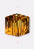 Cube Celebrity Crystal 6 mm topaz x4