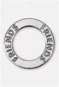 Argent 925 intercalaire anneau friends 22 mm x1