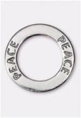 Argent 925 intercalaire anneau peace 22 mm x1