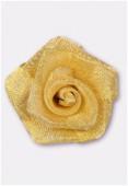 Fleur en maille métallique 25 mm or x1