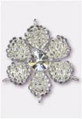 Pendentif rocaille fleur C 27 mm crystal SF / crystal x1