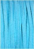 Suédine turquoise x1 m