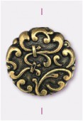 Palet en résine 18x6 mm bronze x2