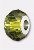 Becharmed briolette 5940 14 mm olivine x1