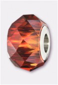 Becharmed briolette 5940 14 mm crystal red magma x1