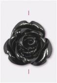 Rose en résine 13 mm noir x1