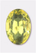 Cabochon ovale 25x18 mm jonquil x1