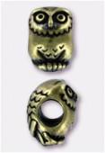 Perle en métal Eurobeads hibou 12x8 mm bronze x1