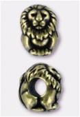 Perle en métal Eurobeads lion 12x8 mm bronze x1