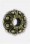 Perle en métal Eurobeads casbah 12x5 mm bronze x1