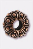 Perle en métal Eurobeads casbah 12x5 mm cuivre x1