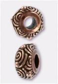 Perle en métal Eurobeads spiral 11x6 mm cuivre x1